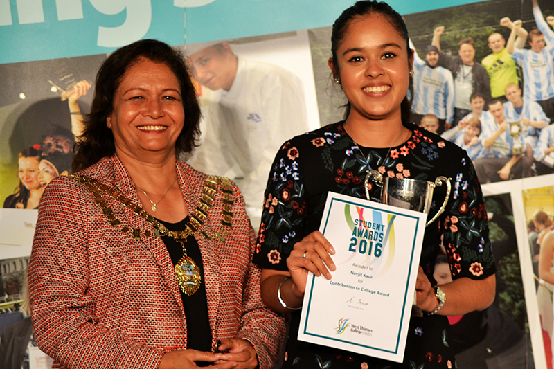 Navjit Kaur - Contribution to College Award