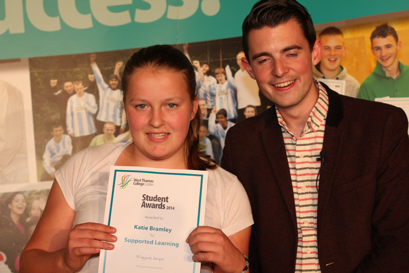 Katie Bramley, Supported Learning Award