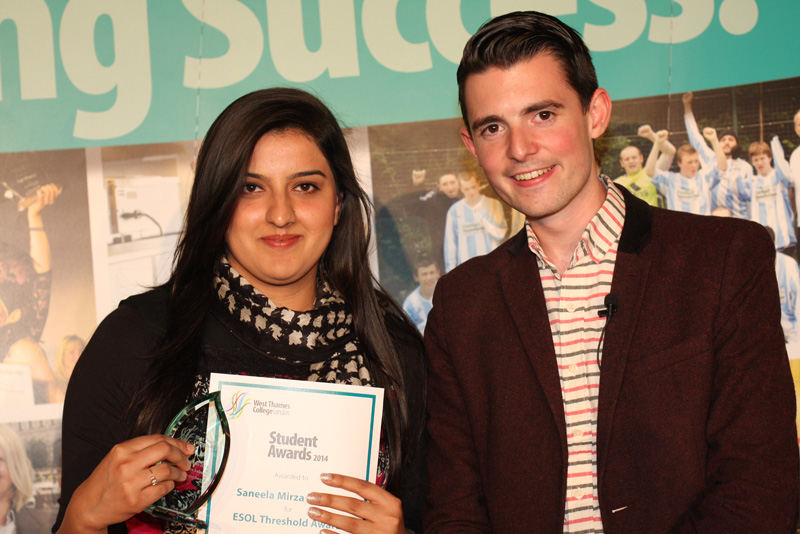 Saneela Mirza Saleem, ESOL Threshold Award