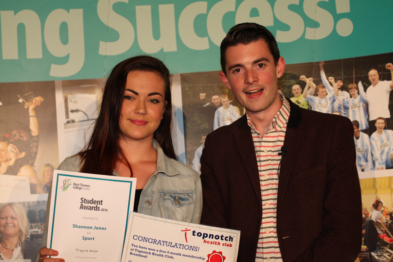Shannon Jones, Sport Award - Sponsored by Top Notch Helath Club