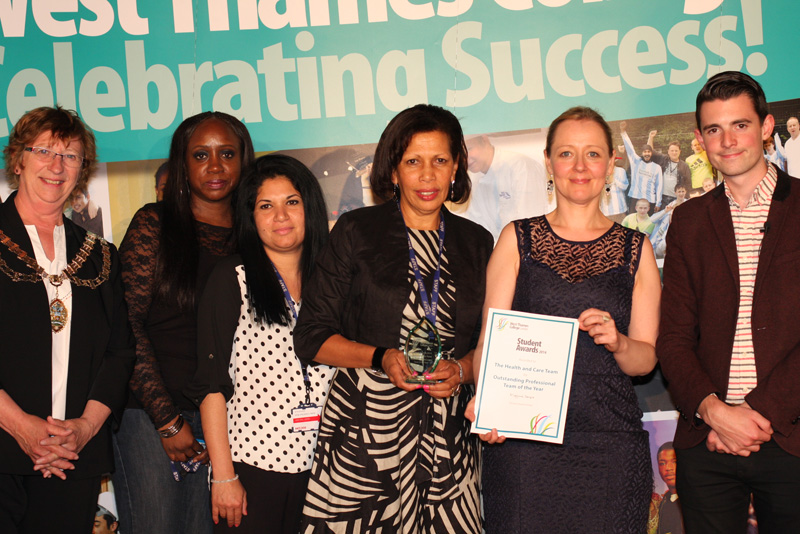 West Thames College Health and Care Staff, Professional Team of the Year Award