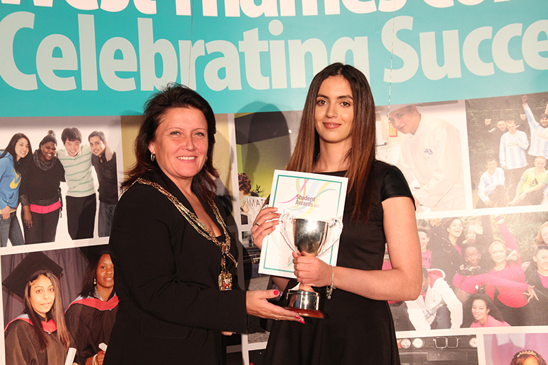 Chaima Boucetta - Academic Achievement with Mayor of Hounslow
